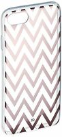 Xqisit 26841 Apple iPhone 7 Shell Zigzag Case - Clear/Rose Gold