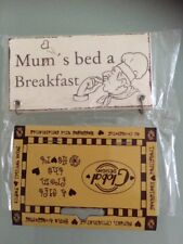 Mum's Bed & Breakfast wooden Hanging Sign 10cm x 5cm birthday gift plague