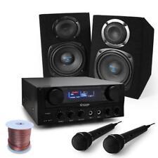EQUIPO PA KARAOKE DJ EVENTOS PACK AMPLIFICADOR 400W 2X MONITOR ALTAVOZ 2X MICRO