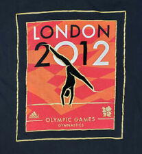 USA 2012 London Olympics Venue Collection Gymnastics Graphic Tee Black Adidas L