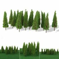 XMAS 50 Trees Model Train Railroad Wargame Diorama Scenery Landscape HO OO Scale