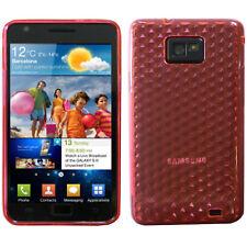 Hydro Gel TPU Diamante Piel Funda Blanda para Samsung Galaxy S2 Sii i9100 GB