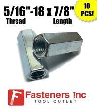 Qty 10 516 18 X W716 X L78 Coarse Grade A Hex Rod Coupling Nut Zinc