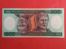 Brazil 200 Cruzeiros Bank Note! CU condition!