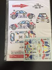DECALS 1/43 PEUGEOT 306 MAXI HENNY RALLYE MONTE CARLO 1998 RALLY WRC