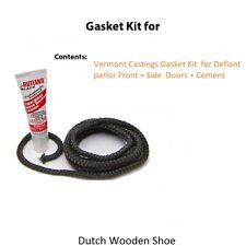 Vermont Castings Gasket Kit  for Defiant parlor Front + Side  Doors + Cement