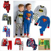 Kids Boys Christmas Batman Spiderman Ironman pyjamas, pjs, character nightwear
