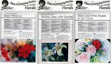 BOB ROSS How-To Painting Packets - Red Hibiscus, White Lilies & Red & Pink Roses