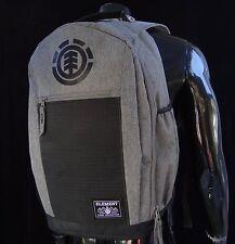 New Element Skateboard Sparker Heather Grey 30L Mens Backpack Bag