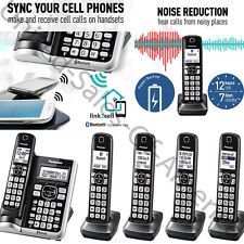 Cordless Phone System 5 Handsets Bluetooth Answer Machine Dect 6.0 Link2Cell New