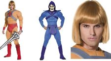 Men's He-Man & Skeletor Muscle Fancy Dress Costumes Cartoon Movie Stag Themed Do