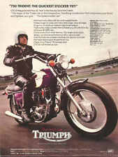 VINTAGE TRIUMPH TRIDENT 750 MOTORCYCLE AD POSTER 56x42 HUGE