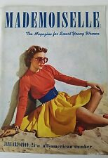 1940 Mademoiselle magazine front cover only woman weird sunglasses