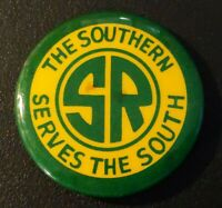The Southern Railroad Serves The South Pin Back Button