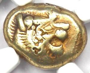 Ancient Lydia Lion EL Third Stater Trite Coin 610 BC - Certified NGC Choice VF