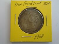 50 Cents 1900 Victoria silver Newfoundland