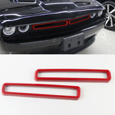 Front Grill Mesh Grille Inserts Trim Accessories for Dodge Challenger 2015-2019