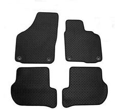 RUBBER VW Golf MK5 2007 onwards Car Mats Round Clips - Black Rubber