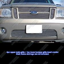 Custom Fits 01-05 Ford Explorer Sport Trac Billet Grill Combo