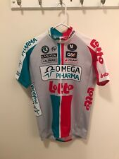 Authentic Omega Pharma Lotto Cycling Jersey with Cycling Team Hat/ Water Bottle