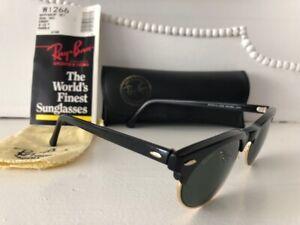 EXC VTG**W1266**BLACK WAYFARER CLUBMASTER MAX RAY-BAN B&L USA SUNGLASSES & CASE