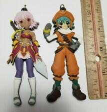 .Hack/ Key Ring Mascot Character Rubber Keychain Kite & Black Rose lot Bandai