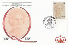 (94802) FDC Turks and Caicos Queen Mother 95th Birthday 8 August 1995