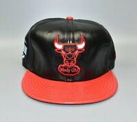 Chicago Bulls New Era 9FIFTY NBA Hardwood Classics Leather Strapback Cap Hat