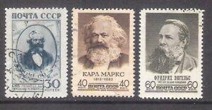 Karl Marx and Friedrich Engels 1943-58-60 USSR 3 stamps Mi 874, 2077, 2426