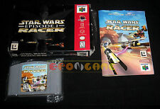 STAR WARS EPISODE I RACER 1 Nintendo 64 N64 Versione NTSC Americana ••• COMPLETO