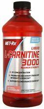 Met Rx Liquid L-Carnitine 3000 Natural Watermelon 16 oz Free Shipping NEW