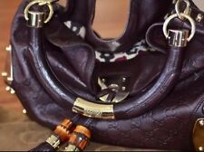 """GUCCI Guccissima BROWN """"Indy"""" Top Handle Crossbody Tassel Bag. Pre-Owned."""