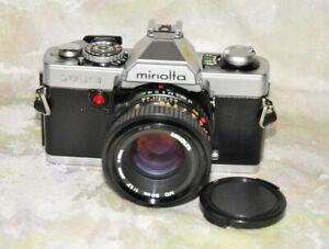 MINOLTA XG-9 35MM FILM SLR CAMERA WITH 50MM 1.7 MINOLTA LENS A++Tested