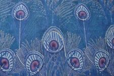 New scarf in Liberty Varuna Wool Hera peacock feathers blue, green, grey, pink