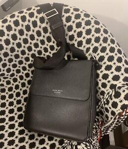 Hugo Boss Crossbody Bag Black Leather (RRP£330) WORN 2 TIMES ONLY!!!PRISTINE!