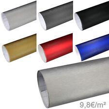 9,8?/m² Alu gebürstet Autofolie 3D Aluminium Brushed Folie Luftkanal Möbelfolie