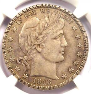 1913 Barber Half Dollar 50C (1913-P) - NGC AU Details (Rim Damage) - Rare Date!
