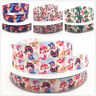 5/10y 1''25MM cartoon Mermaid Printed grosgrain ribbon hair bow DIY Hair Bow