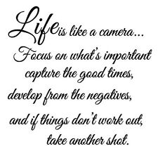 Wall Decal Vinyl Stickers Decals Decor(life is like a camera) ED
