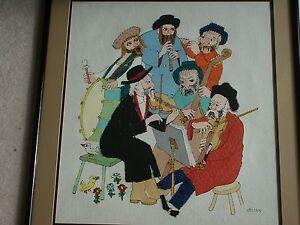 Jovan OBICAN original Acrylic Painting Six Musicians