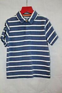 Boys Polo Shirt - Blue Stripe - BNWT - RRP £22 - Kite