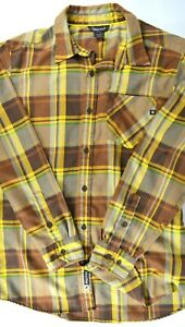 MARMOT Men's Plaid Long Sleeve Shirt (Brown / Yellow) Medium