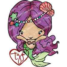 SEALIA MERBEAN-The Greeting Farm Cling Rubber Stamp-Stamping Craft-Bean-Mermaid