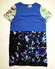 EUC Floral Blocked Dress by Peter Som - Silk Shift - SZ 10
