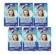 Kool N Soothe 6 Soft GEL Sheets for Migraine & Headache Relief Immediate Cooling