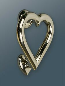 Brass Bee Door Knocker - Nickel Finish - Solid Brass Heart Door Knocker