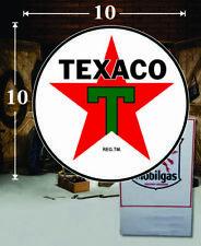 "GREEN//BLACK TEXACO GASOLINE DECAL OIL CAN GAS PUMP LUBSTER 14/"" VERT TEXA-14V"