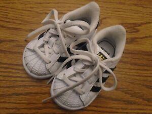 Adidas  Ortholite size 4K white & black infant athletic shoes NEW