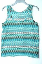 BLUE GREEN TURQUOISE LADIES TOP VEST SIZE S H&M PARTY CASUAL