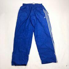 VTG Mens XL Adidas Windbreaker Pants Climashell 3 Stripe Blue Running Gym